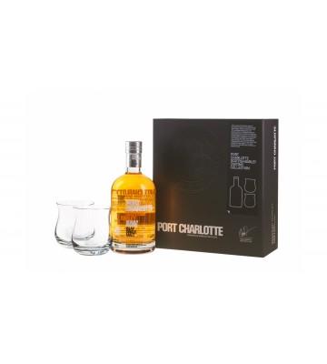Port Charlotte Scottish Barley 0,7 l 50% dárková kazeta se dvěma skleničkami