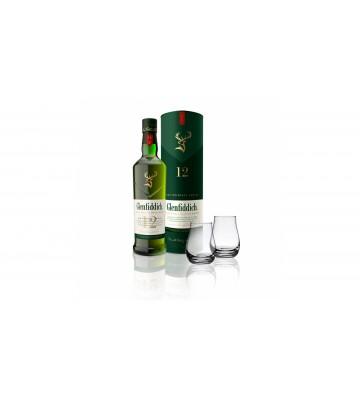 Glenfiddich 12 YO 0,7l 40% nový design lahve se dvěma skleničkami zdarma