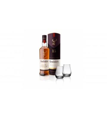 Glenfiddich 15 YO 0,7l 40% nový design lahve se dvěma skleničkami zdarma