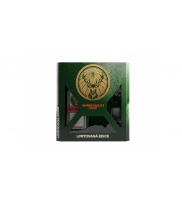 Jägermeister 0,7l 35% v designové krabičce se dvěma skleničkami
