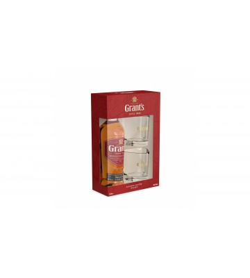 Grant´s Triple Wood 0,7l 40% v dárkovém balení se dvěma skleničkami