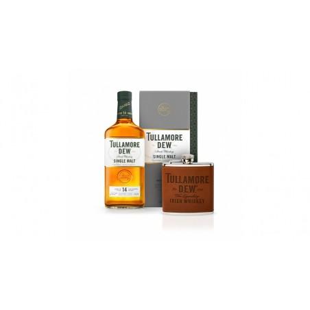 Tullamore D.E.W. 14 YO Single Malt 0,7l 41,3% s koženou placatkou