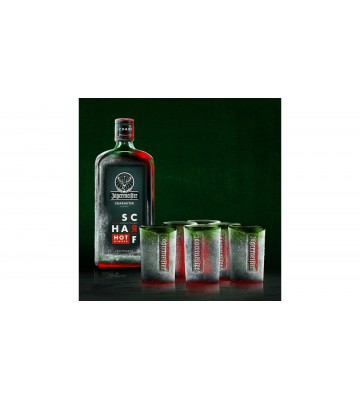 Jägermeister Scharf 0,7l 33% se šesti skleničkami zdarma