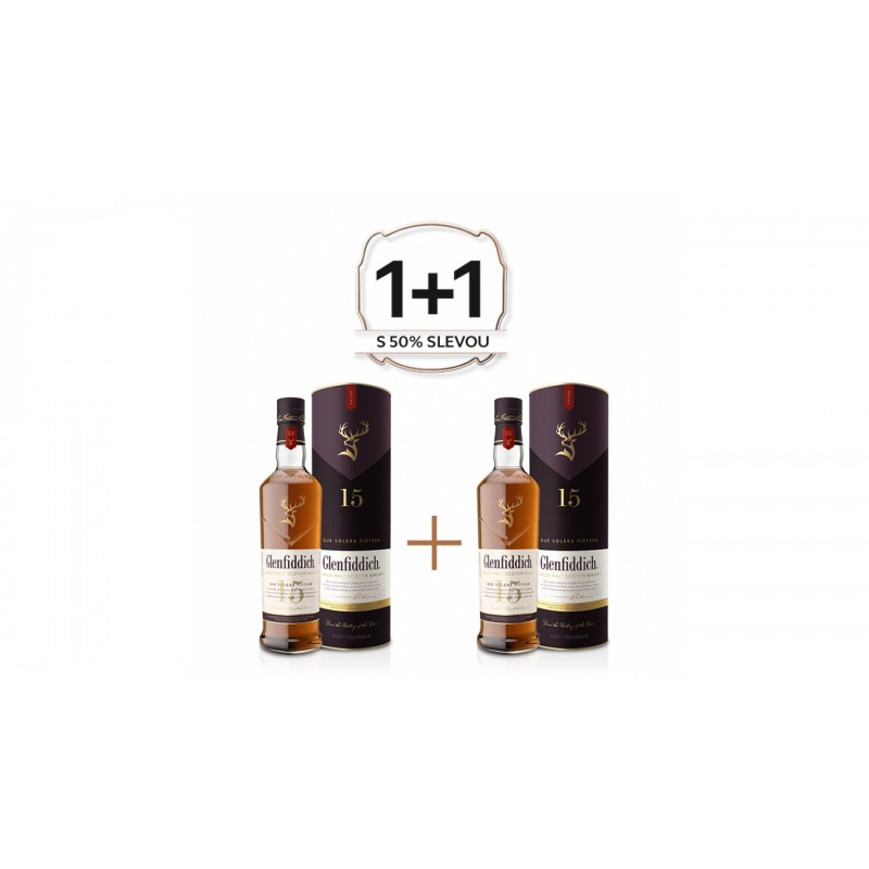 Glenfiddich 15 YO 0,7l 40% Akce 1+1 s druhou lahví za polovinu