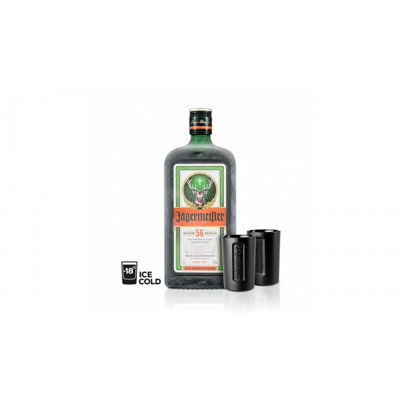 Jägermeister 0,7l 35% + 2 značkové panáky navíc