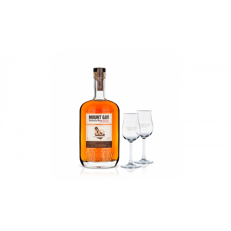 Mount Gay Xo Extra Old 0,7l 43% se sadou degustačních skleniček zdarma