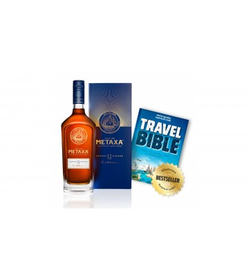 Metaxa 12* V Krabičce 0,7l 40% s Travel Bible Zdarma