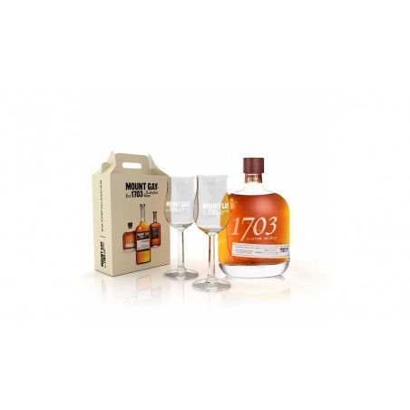 Mount Gay 1703 Master Select 0,7l 43% se sadou degustačních skleniček zdarma